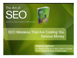 seo mistakes - art of seo